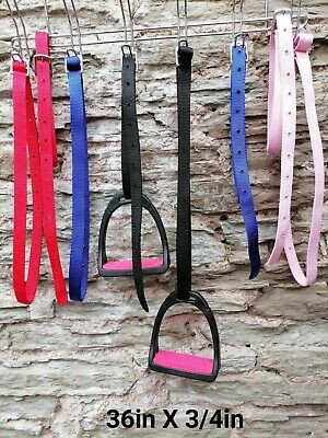 "3/4"" WIDE, 36"" LONG SYNTHETIC STIRRUP 'LEATHERS' FOR CHILDREN in lost of colours"