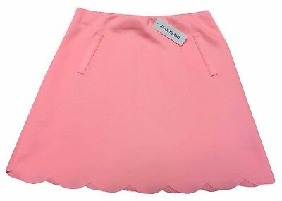 Ex River Island Girls Scallop Skirt in Salmon Pink Age 3 - 12