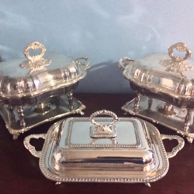 Sheffield Silver – Covered Serving Dish w/ Double Insert