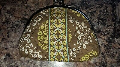 Vera Bradley double clasp change purse coin BIRDS Sittin in a Tree brown wallet