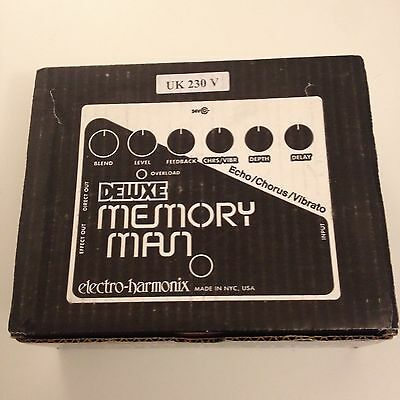 Electro-Harmonix EHX Deluxe Memory Man Delay Guitar Effects Pedal, Boxed