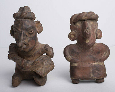 Lot of two Pre Columbian Pottery Figures c.100 BC-250 AD.