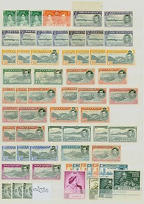 Ascension KGVI Stamp Collection Fine Mint CV STC £380 Excellent Value