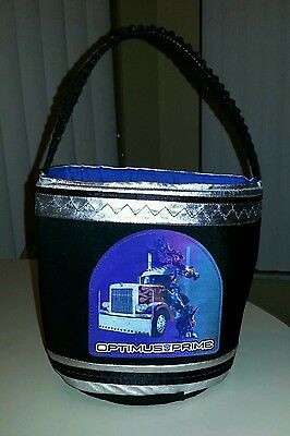 TRANSFORMERS Halloween Trick-or-Treat Basket with *reflective* scene - Free Ship