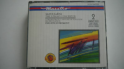 Camille Saint-Saens - The 5 Piano Concertos - 2 CD Box