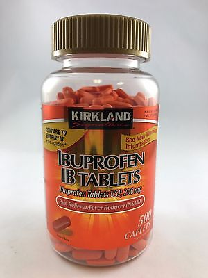 Kirkland Ibuprofen IB Tablets 200mg NSAID Pain/Fever 500 Caplets + Free Shipping