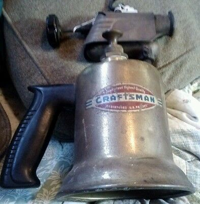 Craftsman vintage Brass Gasoline Blow Torch - Steam Punk - Antique Hand