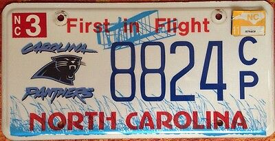 North Carolina Panthers NFL license plate Super Bowl Football Cam Newton MVP QB