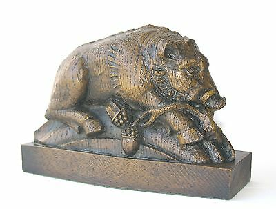 Wild Boar Ornament Hand Made Reproduction Cathedral Carving Scottish Pig gift