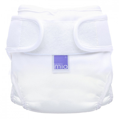 Bambino Mio, Miosoft Nappy Cover, White Size 1 (2pack)
