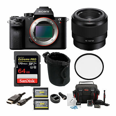 Sony Alpha a7RII Mirrorless Digital Camera Bundle with Sony FE 50mm f/1.8 Lens