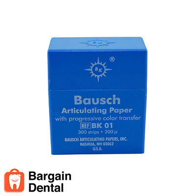 Bausch BK01 300x Strips Articulating Paper with Progressive Color Transfer