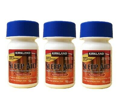 Kirkland Sleep Aid Doxylamine Succinate 25 mg,96 Tablets x 3