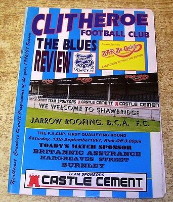 1997/98 FA CUP 1ST QUALIFYING ROUND - CLITHEROE v JARROW ROOFING - 13 SEPTEMBER