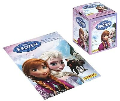 Panini Disney Frozen Box of Album Stickers, 50 Unopened Packs, plus Album