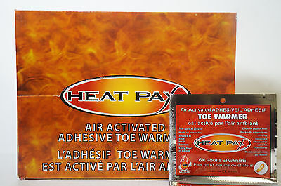 (Lot of 40 Pairs) TechNiche Heat Pax Air Activated Adhesive Toe Warmer
