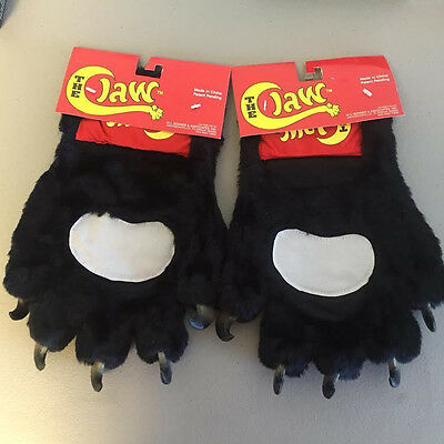 Clearance!!! The Claw Black Panther Paws Animal Fur Gloves Costumes Mascots Pair