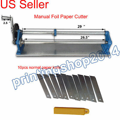 "26.5""Manual Foil Paper Cutter Hot Stamping Rolls Slitter"