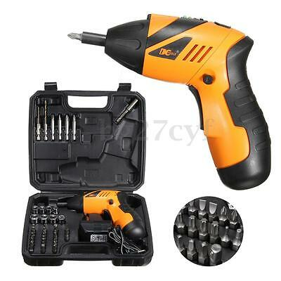 45in1 Electric Drill Driver Wireless Cordless Screwdriver Bits Set 180° Foldable