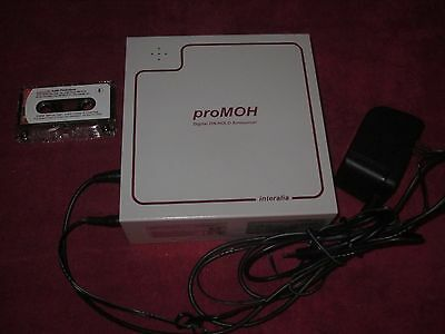 Interalia proMOH Digital On-Hold Announcer (P-PM-4-A-N) WITH CASSETTE! WORKING!!