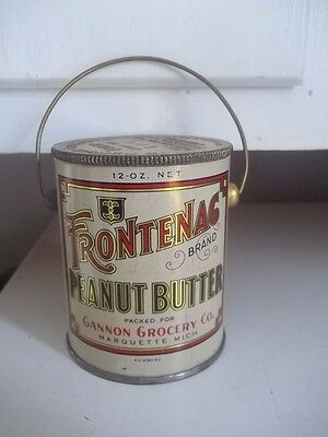 Vintage Advertising Frontang Peanut Butter Gannon Grocery Marquette Michigan