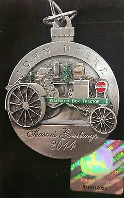 John Deere Limited Edition 2013 & 2014 Pewter Christmas Ornament