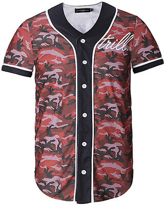 Unisex 3D All Over Camouflage Print Breathable Dance Baseball Shirts Jersey Tee