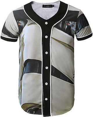 Unisex Tops Button Down 3D Graphic Print Breathable Dance Baseball Shirts Jersey