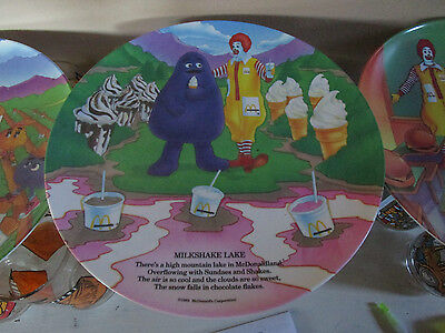 Vintage 1989 Mcdonald's Rhyme Collector Plates Complete Set Of 4
