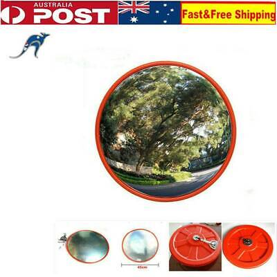 45cm Convex Safety Mirror Wall Pole Mount Traffic Security Shop Driveway Blind