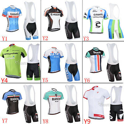 2017 Bike Bicycle short sleeve cycling jersey,bib Short Sets Ciclismo GEL PAD