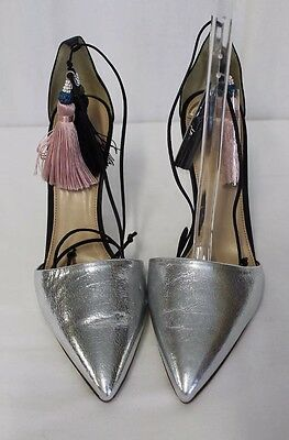 0449fe711a3 NWOB J.CREW ROXIE Crackled Leather Ankle-Tie Pumps Heels Sz7  285 ...