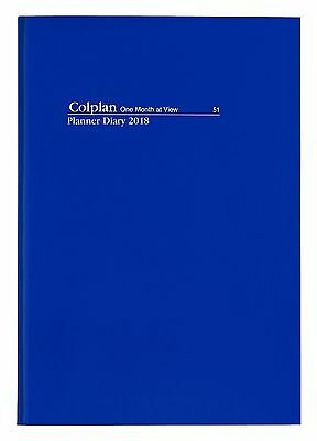 COLPLAN 2018 1 Year Planner Diary A4 Month to View MTV - NAVY BLUE Flex Cover