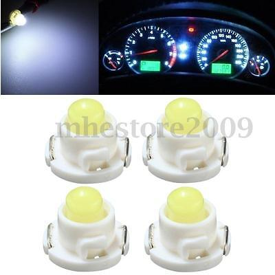 4x T5/T4.7 Wedge LED Bulb Dash Climate Control Cluster Instrument Light White