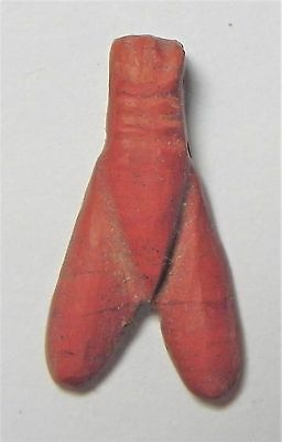 Zurqieh -Af1686- Ancient Egypt, New Kingdom. Red Jasper Fly Amulet. 1400 B.c