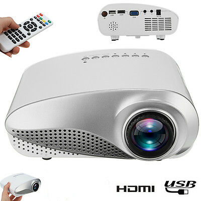 3D Full HD 1080P Mini Projector LED Multimedia Home Theater USB VGA HDMI TV AV