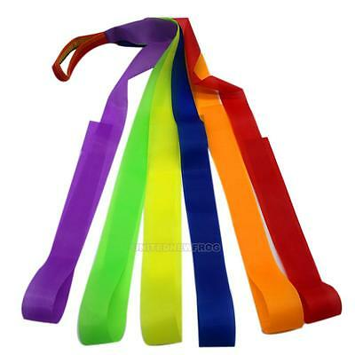 1Pc Colorful Hand Held Gym Gymnastic Dance Rainbow Ribbon for Children Kids Toy