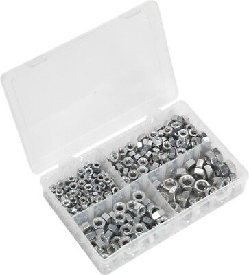 "Sealey Steel Nut Assortment Set 1/4""-1/2""UNF DIN 934 