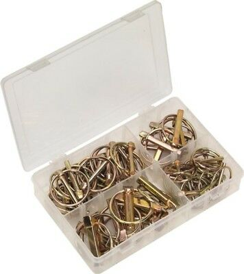 Sealey Linch Pin Assortment Various Sizes & Box Metric | 50 Piece