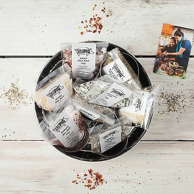 Salt Pigs Flavoured Sea Salts Collection | 7 Flavoured Salts | Storage Tin