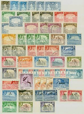 Aden KGVI Stamp Collection Fine Mint & Used CV STC £615 Excellent Value