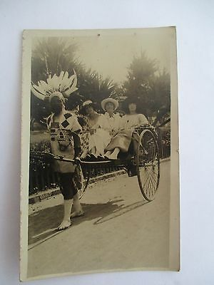 Real Photographic Postcard Of Rickshaw Dated 1922 Durban South Africa