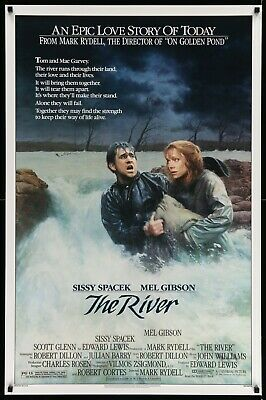 """THE RIVER - 27""""X41"""" Original Movie Poster One Sheet 1984 Rolled Rare Mel Gibson"""