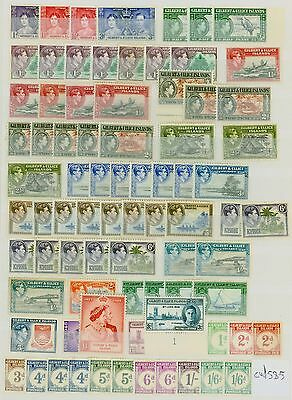 Gilbert & Ellice Is KGVI Mint Stamp Collection CV STC £585 Excellent Value