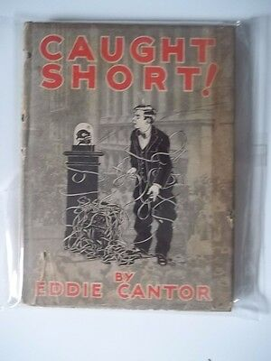 ANTIQUE  Caught Short Great Depression WALL STREET Humor/Comic Book-Eddie Cantor