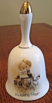 Precious Moments Porcelain/Ceramic Bell -A Wedding Prayer keepsake 1978