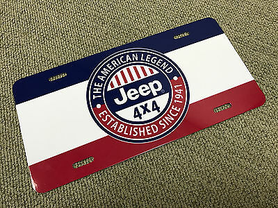 Jeep license plate tag retro vintage reproduction