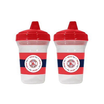 Boston Red Sox Baby Infant Toddler 2-Pack Sippy Cups (FREE SHIPPING)
