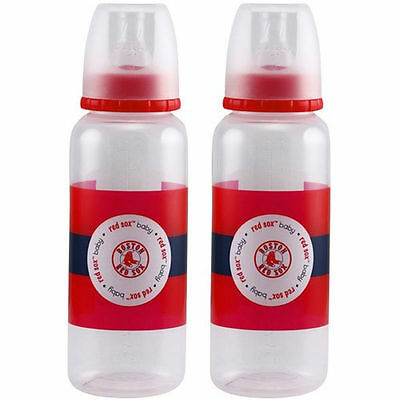 Boston Red Sox Baby Infant 2-Pack Feeding Bottles 9 Ounces (FREE SHIPPING)