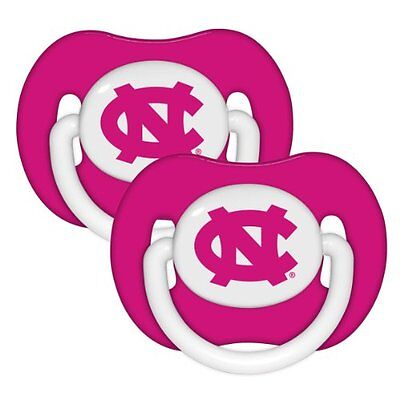 North Carolina Tar Heels Baby Girl Infant 2-Pack Pink Pacifiers (FREE SHIPPING)